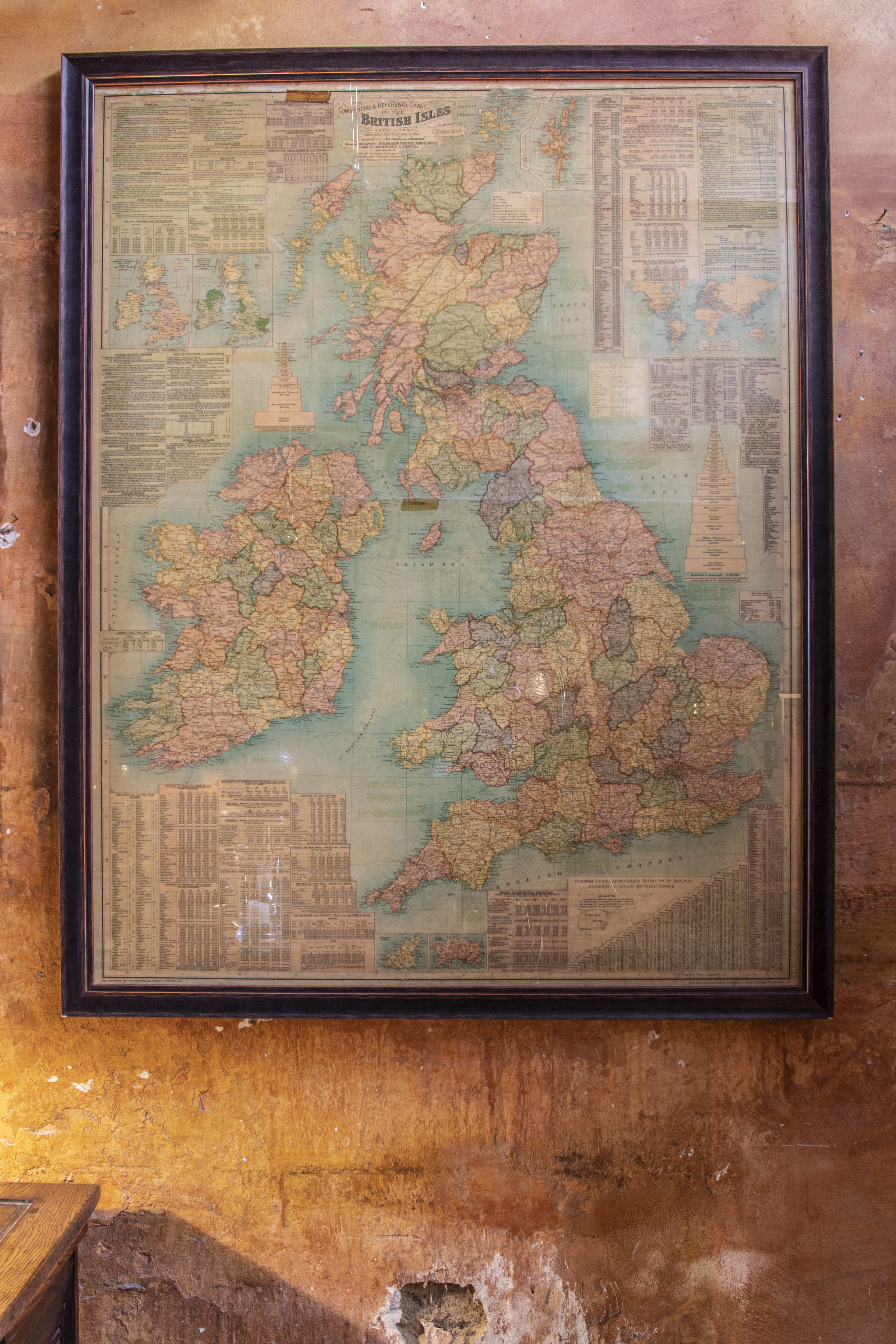 Old Map Of The British Isles Blue Fonz - Old map shop london